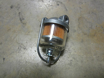GM EMBOSSED FUEL FILTER WITH GLASS BOWL 1930'S 1940'S 1950'S ALL GM PRODUCTS