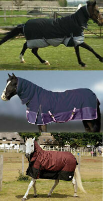 Rhinegold aspen heavy weight winter combo turnout rug heavyweight 350g with neck
