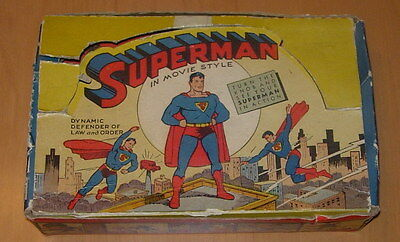 ACME  SUPERMAN IN MOVIE STYLE  STRIPS AND VIEWER  BOXED  1946  #800
