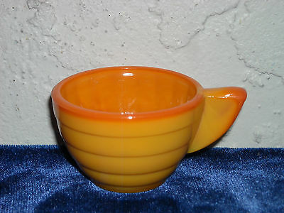Akro Agate Small Stacked Disc and Interior Panel Cup  Pumpkin