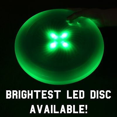 Ultimate LED Flying Light Up Disc / Frisbee - Neon Green