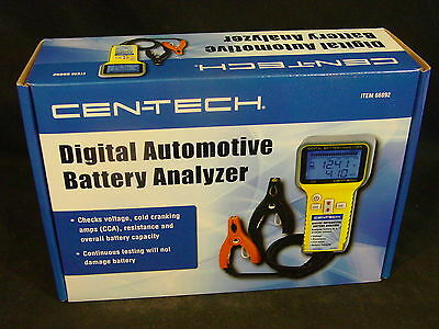 NEW Digital Automotive Battery Analyzer to Check Cold Cranking Amps CCA Voltage