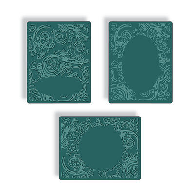 Tim Holtz Texture Fades ~ EMBOSSING DIFFUSER SET #1 ~ Sizzix Embossing Folders