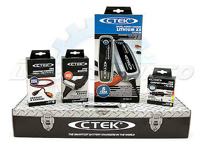 Ctek Lithium Xs Toolbox  + Bumper + Prolunga 2,5 Mt +  Spina Accendisigari Led