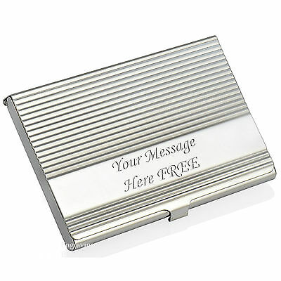 Personalised Business/Credit Card Holder/Case FREE Engraving ID Stainless Steel