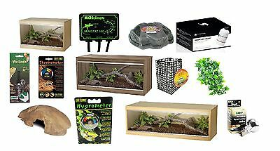 Vivexotic Repti-Home - Wooden Vivarium Snake Lizard Housing Reptile Full Package