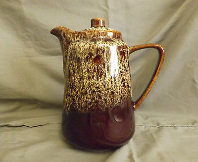 Fosters Pottery coffee pot, honeycomb pattern