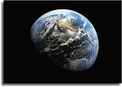 Planet Earth From Space Large framed CANVAS PRINT - A0 A1 A2 A3 A4 Sizes