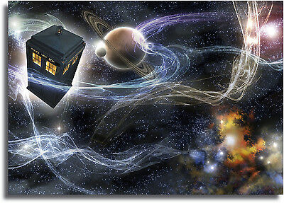 Dr Who Tardis Space Large Framed CANVAS PRINT - A0 A1 A2 A3 A4 Sizes