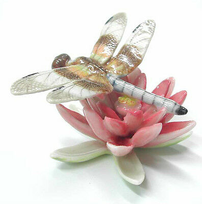 R238 - Northern Rose  Miniature - Dragonfly on Pink Water Lily RETIRED!!