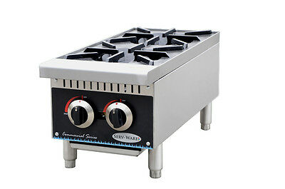 New Commercial Gas 2-Burner Hot Plate
