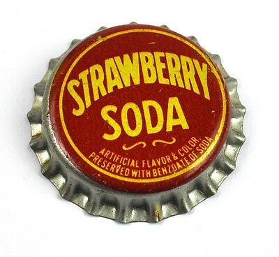 Vintage Strawberry Soda Kronkorken USA 1950er Bottle caps