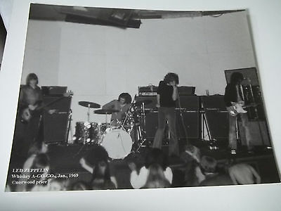 #32 LED ZEPPELIN 1969 CONCERT WHISKEY A GO GO PHOTOGRAPH Norwood Price