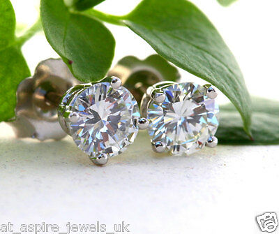 2.00 CT BRILLIANT CUT DIAMOND SOLITAIRE ENGAGEMENT EARRING SOLID IN 14ct GOLD