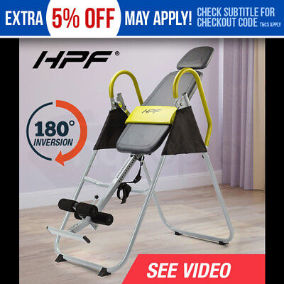 HPF Inversion Table  Gravity Folding Chronic Upside Down Back Pain Home Gym