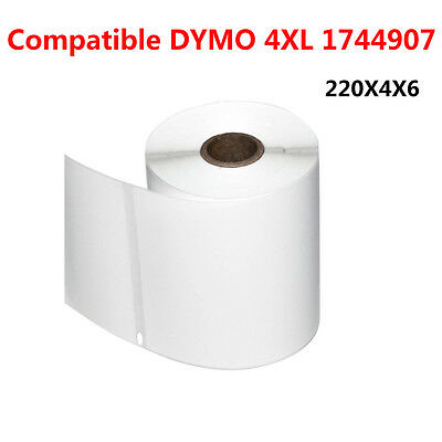 4 Rolls Thermal Shipping Labels 220/Roll 4x6 Compatible Dymo 4XL 1744907 Printer