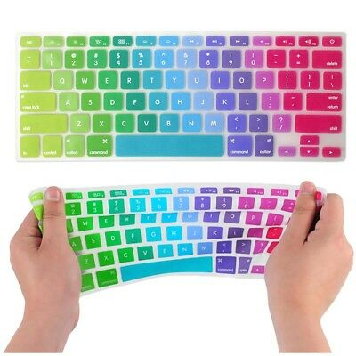 """Colorful Keyboard Cover ProtectorFor Apple Mac Macbook Air Pro 13"""" 15"""" inch"""