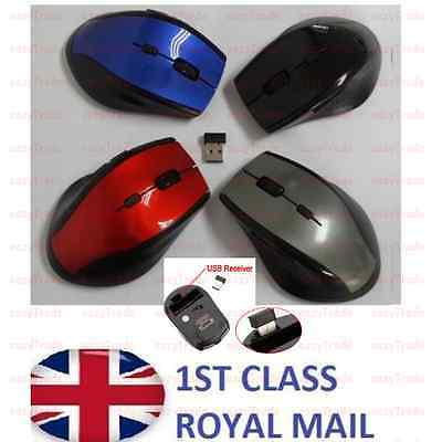 2.4GHz Wireless Cordless Optical Scroll Computer PC Laptop Mouse With USB NEW M2