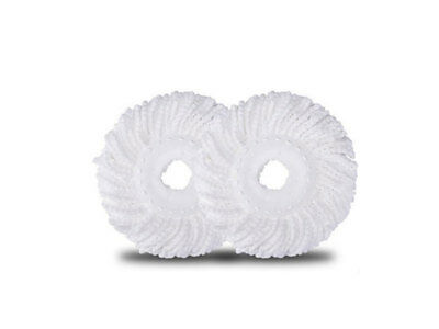 2 x Spin Mop Microfibre Heads Replacement Refills 360' Spin Mop Refill heads