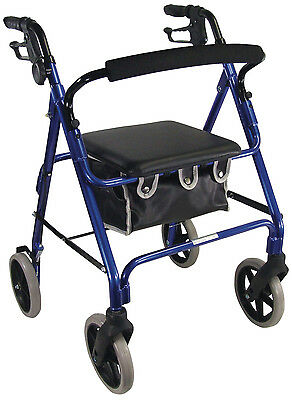 Aidapt Lightweight 4 Wheeled Rollator Blue - VP177