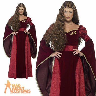 Adult Medieval Queen Cersei Costume Game of Thrones Ladies Fancy Dress Outfit