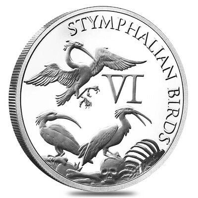 "The 12 Labors Of Hercules ""Stymphalian Birds"" 1 oz .999 Silver BU Round USA Coin"