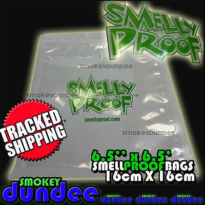 Smelly Proof Bags 6.5'' x 6.5'' Medium 16cm x 16cm Smell Proof Grip Seal Bag