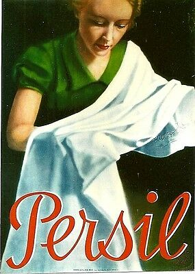 Original vintage poster PERSIL GERMAN LAUNDRY POWDER 1936