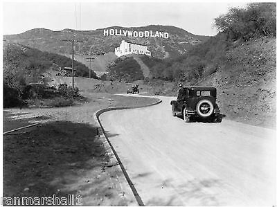 1924 Hollywoodland Hollywood Los Angeles B&W Vintage California Photo 8.5x11