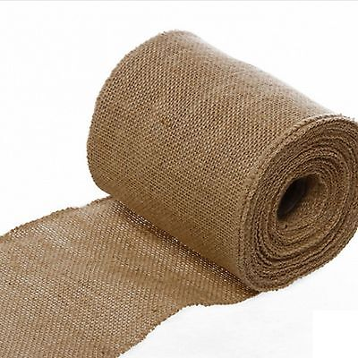 10M Natural Burlap Jute Hessian Ribbon Garland Wedding Decor 2.5/4/5/10/15/25cm