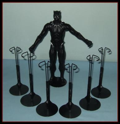 "6 BLACK Kaiser Doll Stands For KEN & 10 to 12"" Action Figures U.S.SHIPS FREE"