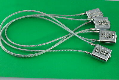 "Universal Gun Lock Cable Lock 22""  Combination Lock - Chrome Plated - Lot of 4"
