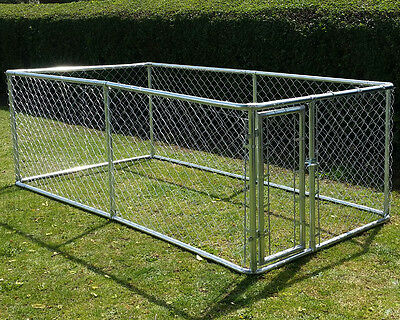 Chicken Run 3M X 1.5M Walk In Coop Poultry Dog Rabbit Hen Cage Pen Metal Door +