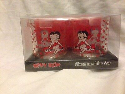Betty Boop Red Short Tumbler drinking glasses Set