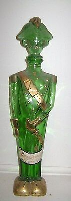 Vintage green with gold wine bottle soldier