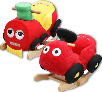 Rock My Baby Musical Toy Rocker Rocking Car Train Soft Cushion Babies Support