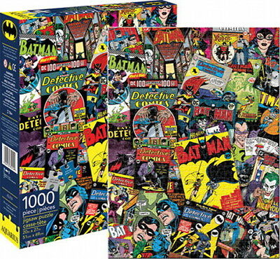 Batman Classic Comic Book Covers Collage 1000 Piece Jigsaw Puzzle, NEW SEALED