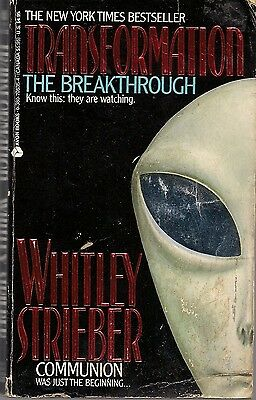 Vintage UFO's 1989  TRANSFORMATION: THE BREAKTHROUGH by Whitley Strieber, Aliens
