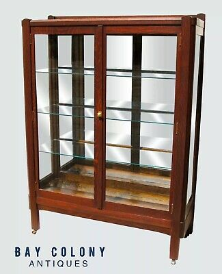 Fabulous Oak Arts & Crafts Bookcase-China Cabinet By The Lifetime Furniture Co