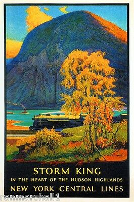 Storm King New York Central Vintage United States Travel Advertisement Poster