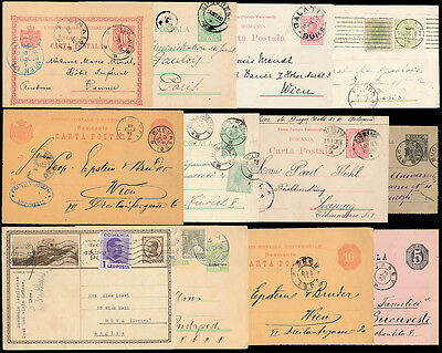 ROUMANIA STATIONERY + UPRATED 1874-1939 CARDS etc...12 ITEMS