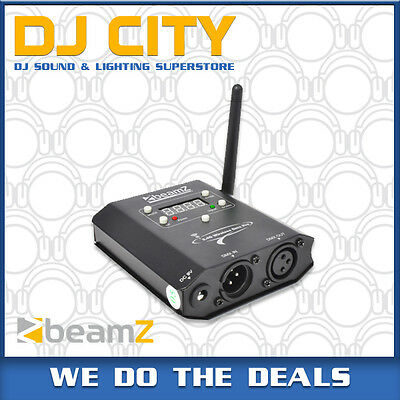 Beamz WI-DMX Wireless 2.4Ghz DMX Transmitter and Receiver Tranceiver - BNIB -...