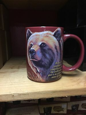 Grizzly Bear Stoneware COFFEE MUG 16oz  American Expedition