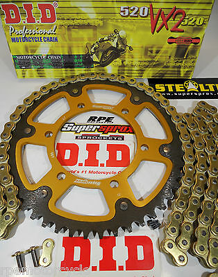 YAMAHA FZ-6R '09-14 DID Gold X-Ring SUPERSPROX CHAIN AND SPROCKET KIT *OEM or QA