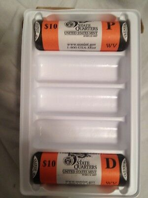 2004 TEXAS MINT WRAPPED P&D ROLLS R40 SEAL BOX