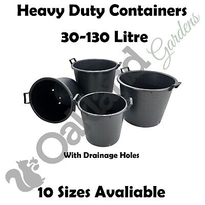 30 35 45 50 60 70 Litre Plant Tree Pot Container Plastic With Handles Large Big
