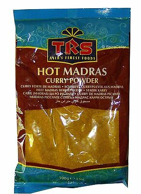 Madras Curry Powder - Hot - 1 x 100g Bags - TRS Brand