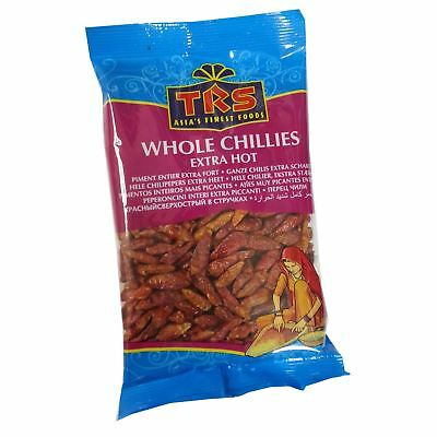 Whole Red Chillis / Chillies / Chilli - Extra Hot - 50g - TRS Brand