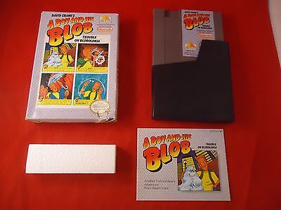 A Boy and His Blob: Trouble on Blobolonia  (Nintendo NES 1989) w/ Box game WORKS