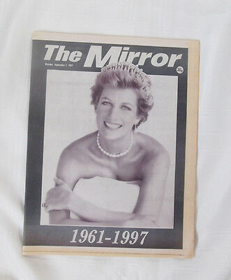Princess Diana Tribute 1961 - 1997 from The Mirror Newspaper Sept 1 1997 UK RARE